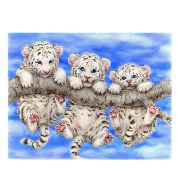 Three Tigers Baby 5D Diamond DIY Painting Crafts