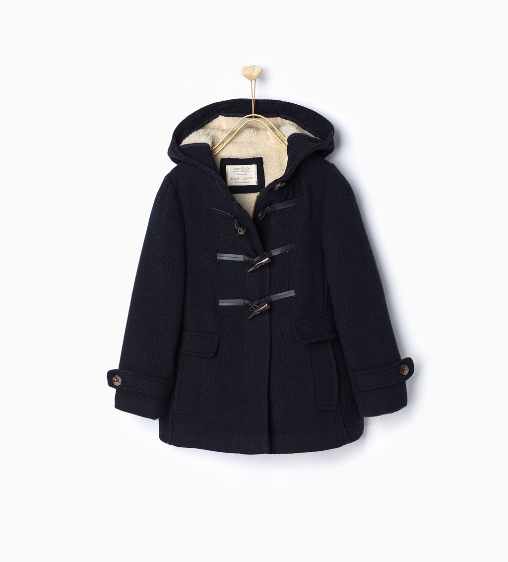 Fleece duffle coat-View all-Coats-Girl-Kids | 4-14 years-KIDS ...
