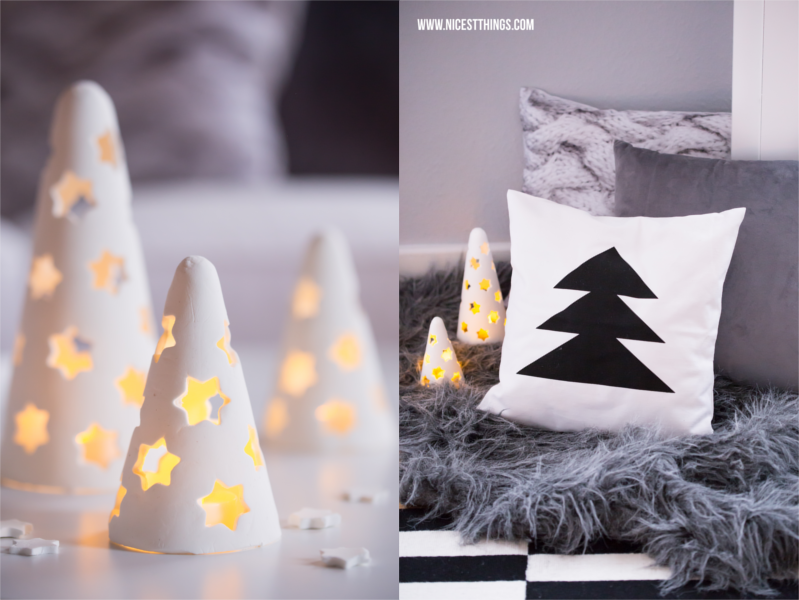 weihnachtsdeko kaminumrandung adventskranz aus beton modelliermasse tannenbaum und windlicht. Black Bedroom Furniture Sets. Home Design Ideas