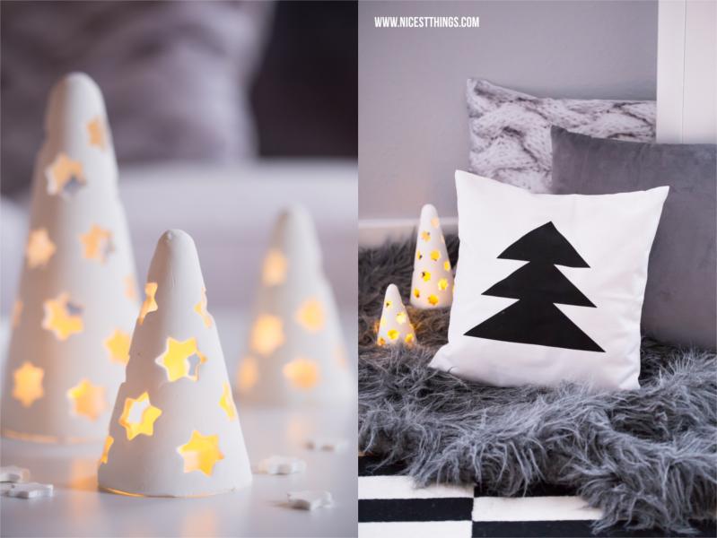 Weihnachtsdeko: Kaminumrandung & Adventskranz aus Beton ...