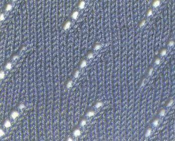 "Photo of 1000 knitting patterns »020"" diagonal stripes """