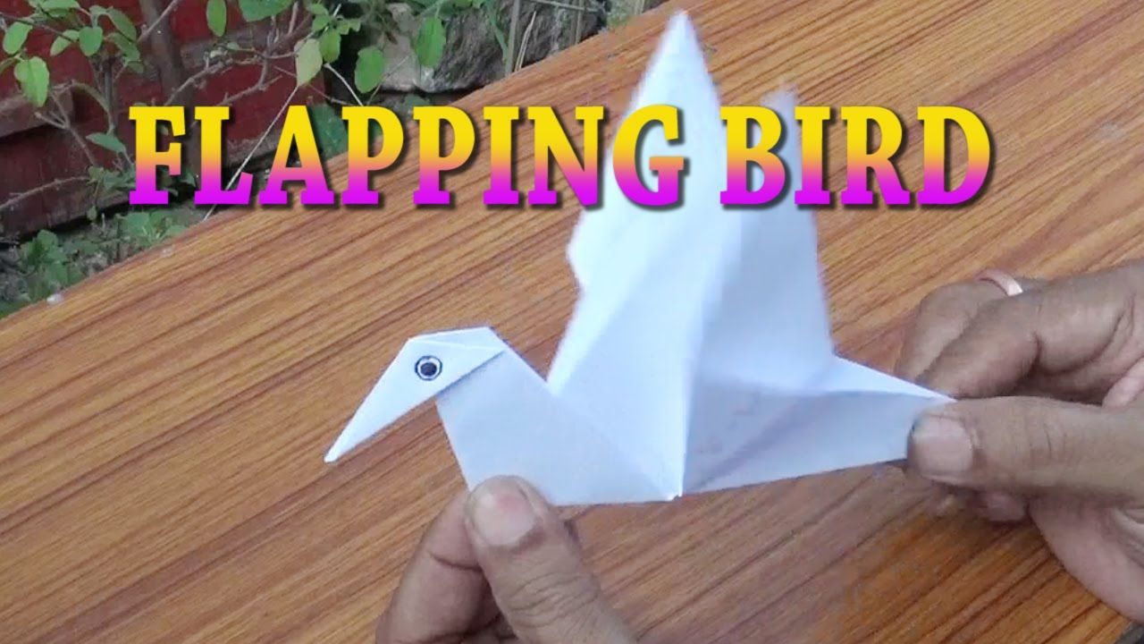 FLAPPING BIRD PAPER CRAFT ORIGAMI EASY STEPS FOR KIDS