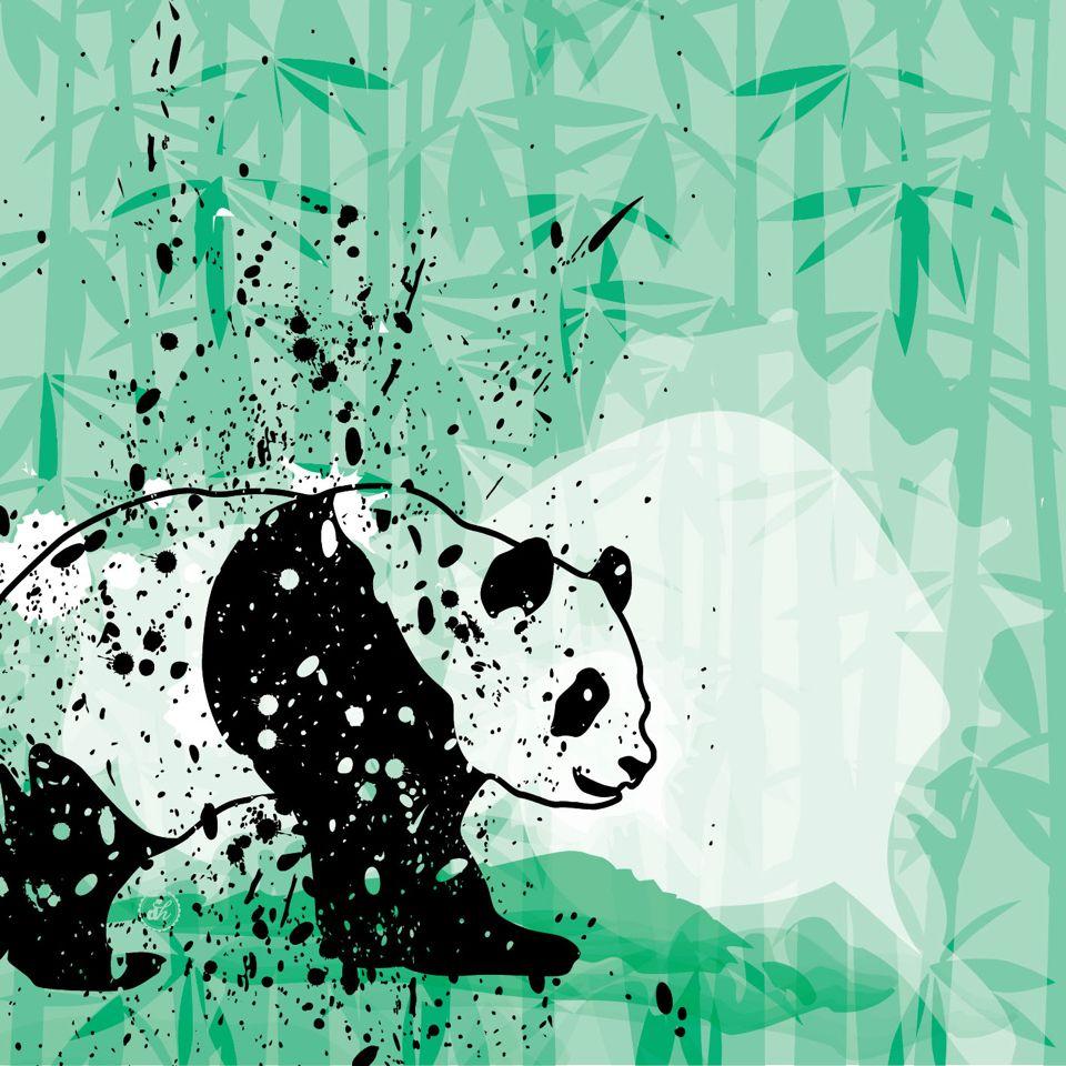 Oso panda y bambú | osos panda | Pinterest | Bambú, Osos y Osos panda