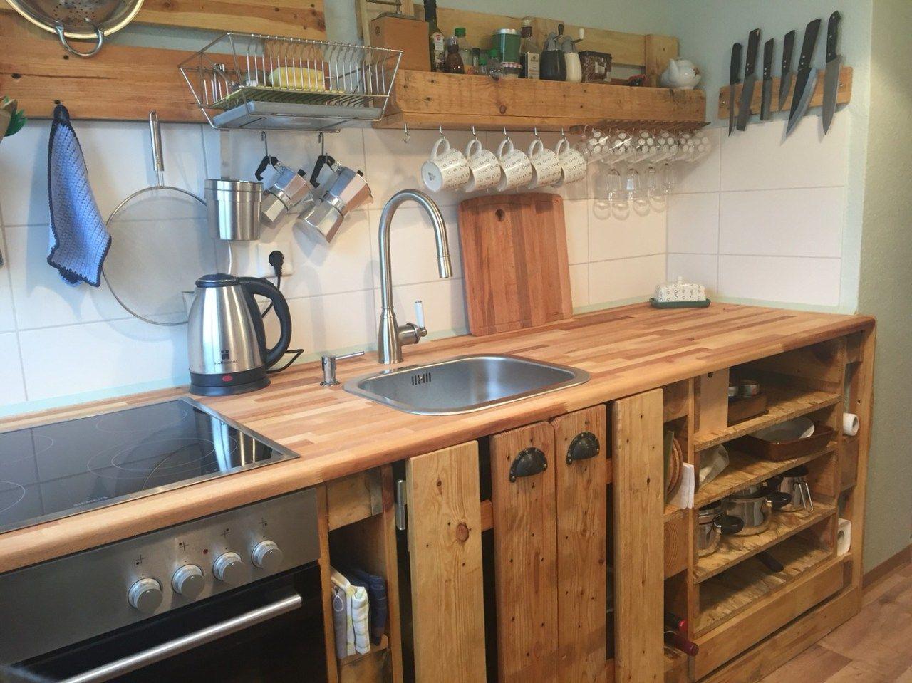 Küche selber bauen aus paletten  100+ Ideas Make Your Kitchen Awesome With Pallet   Pinterest   Küche ...