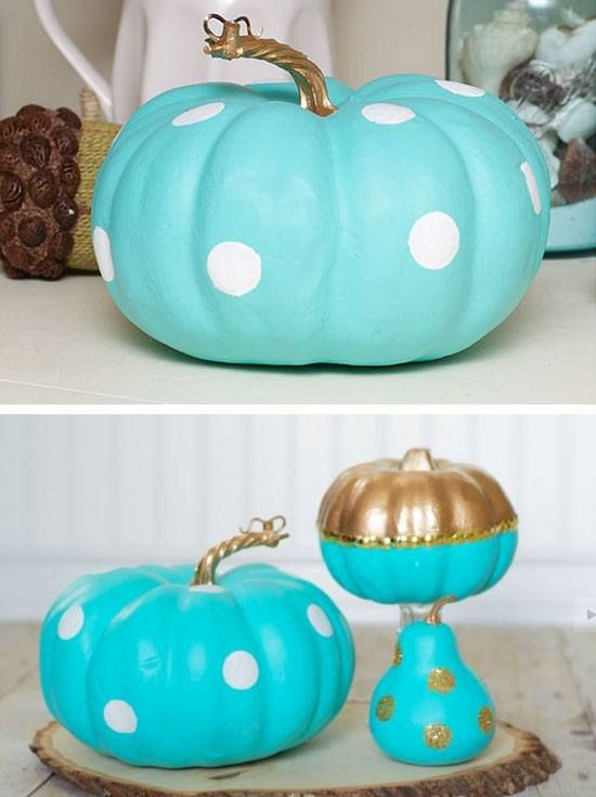 Make a Tiffany Inspired Painted Pumpkin 35 DIY Fall Decorating - halloween fall decorating ideas