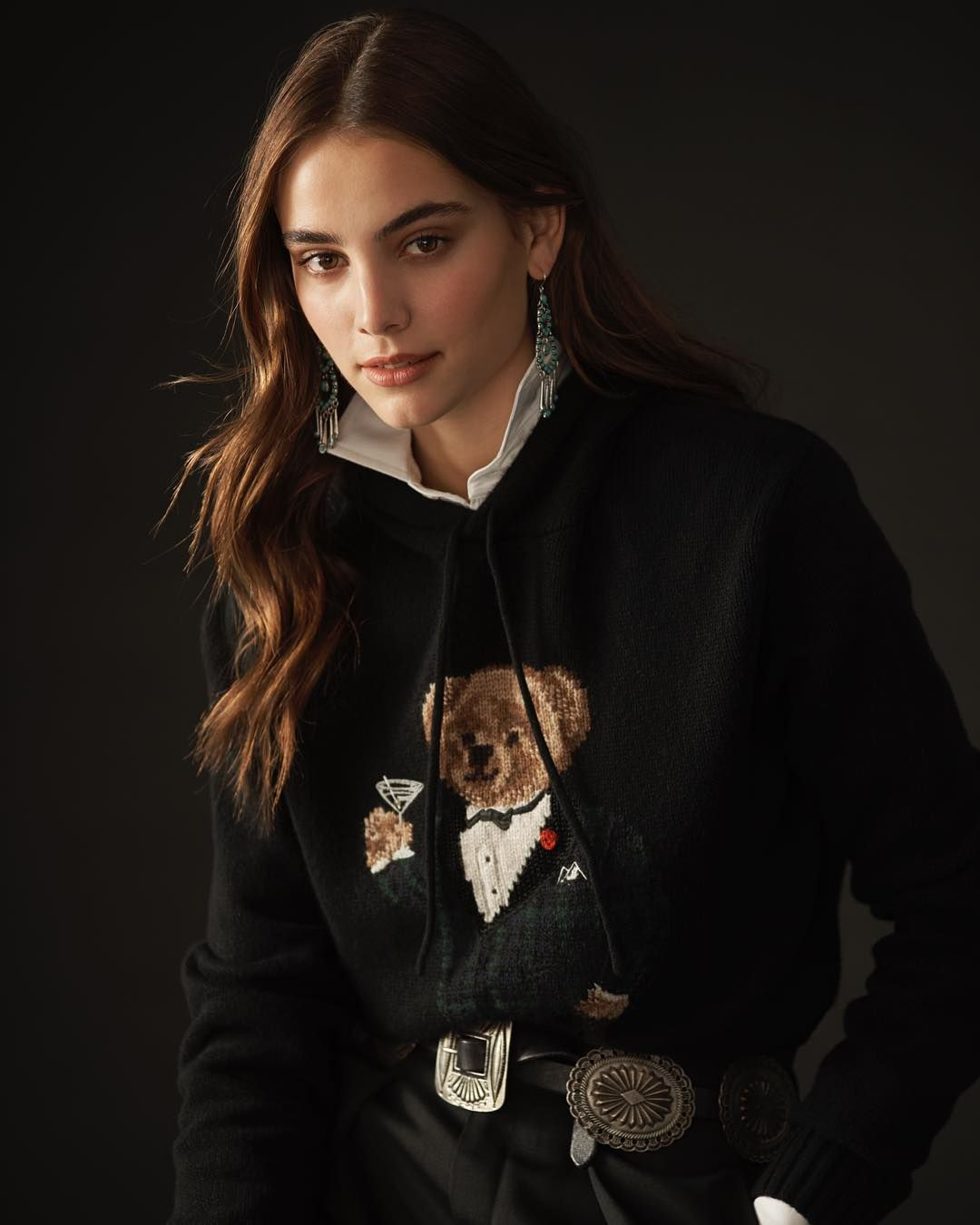 39e95dc25 With a cocktail in hand, the beloved Polo Bear toasts to No. 47/50 on the  #RL50Gifts list: the wool-and-cashmere-blend Martini Bear Hooded Sweater,  ...