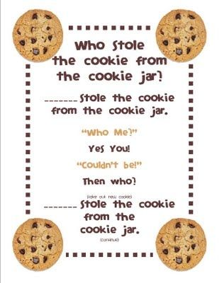 Who Stole The Cookie From The Cookie Jar Lyrics Pleasing Who Stole The Cookie Rhyme I'm A 80's Baby  Pinterest Review