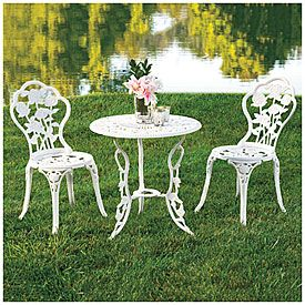 Wilson U0026 Fisher® Vintage Rose 3 Piece Cast Steel Bistro Set At Big Lots.  $130