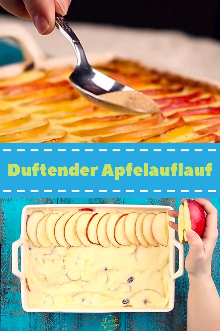 Duftender Apfelauflauf mit Grieß #apfelrosenmuffins
