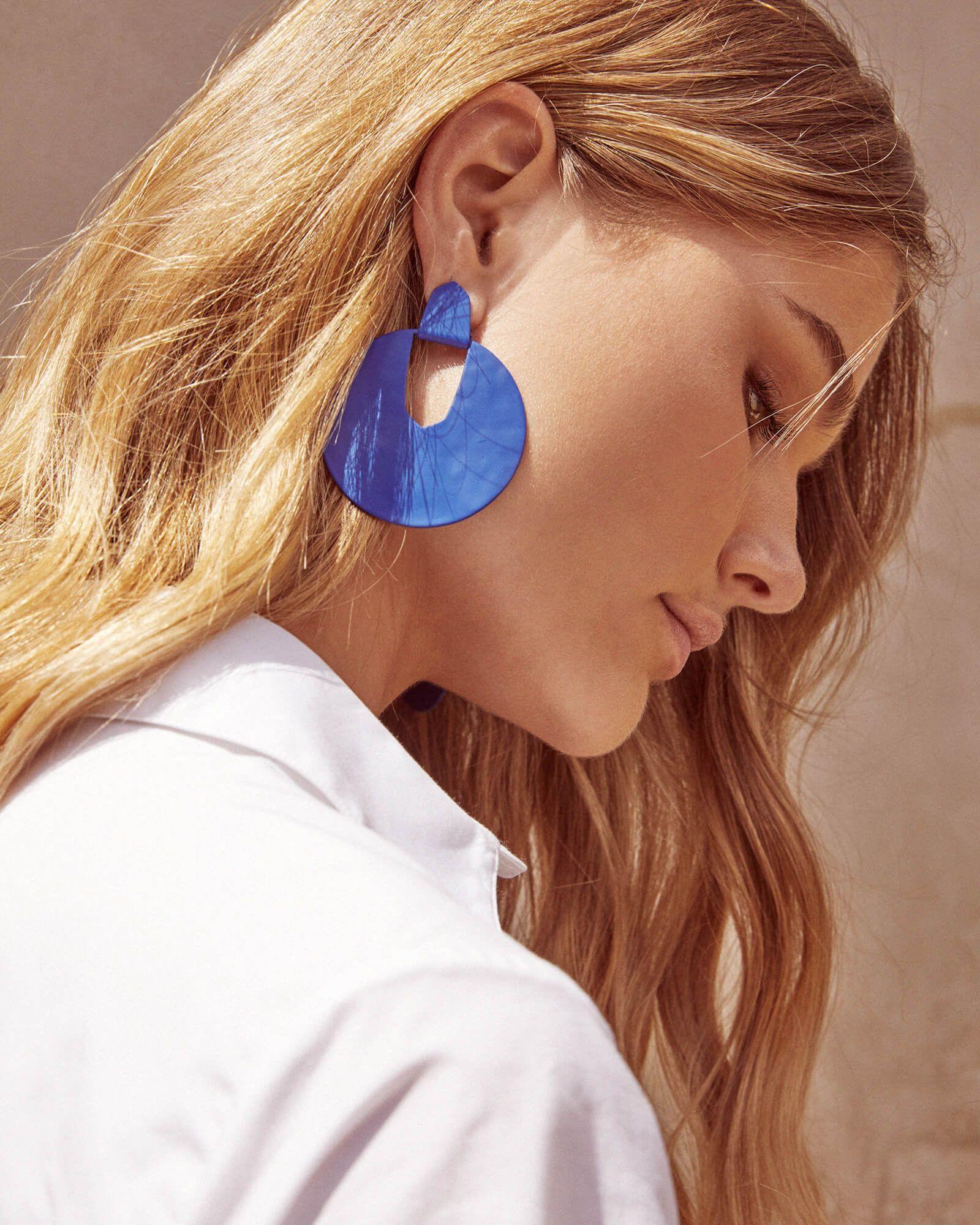 ca0a1d8f71798 New at Kendra Scott   Diane Matte Statement Earrings in Cobalt   New ...
