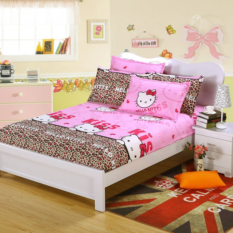 Sheet U0026 Pillowcase Cartoon Fitted Sheet With Elastic Bed Sheet  Polyester/cotton Bedspread Mattress Cover Sheet Twin/full/queen In Bedding  Sets From Home ...