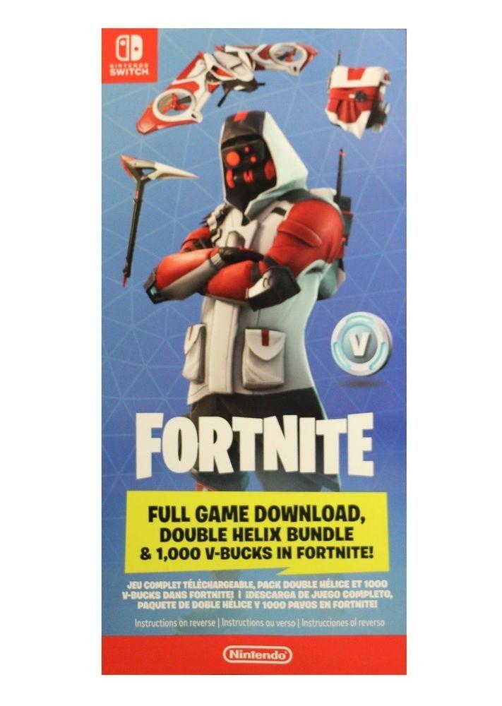 Nintendo Switch Double Helix Fortnite Skin 1000 V Bucks No Console Mailed Double Helix Fortnite Helix