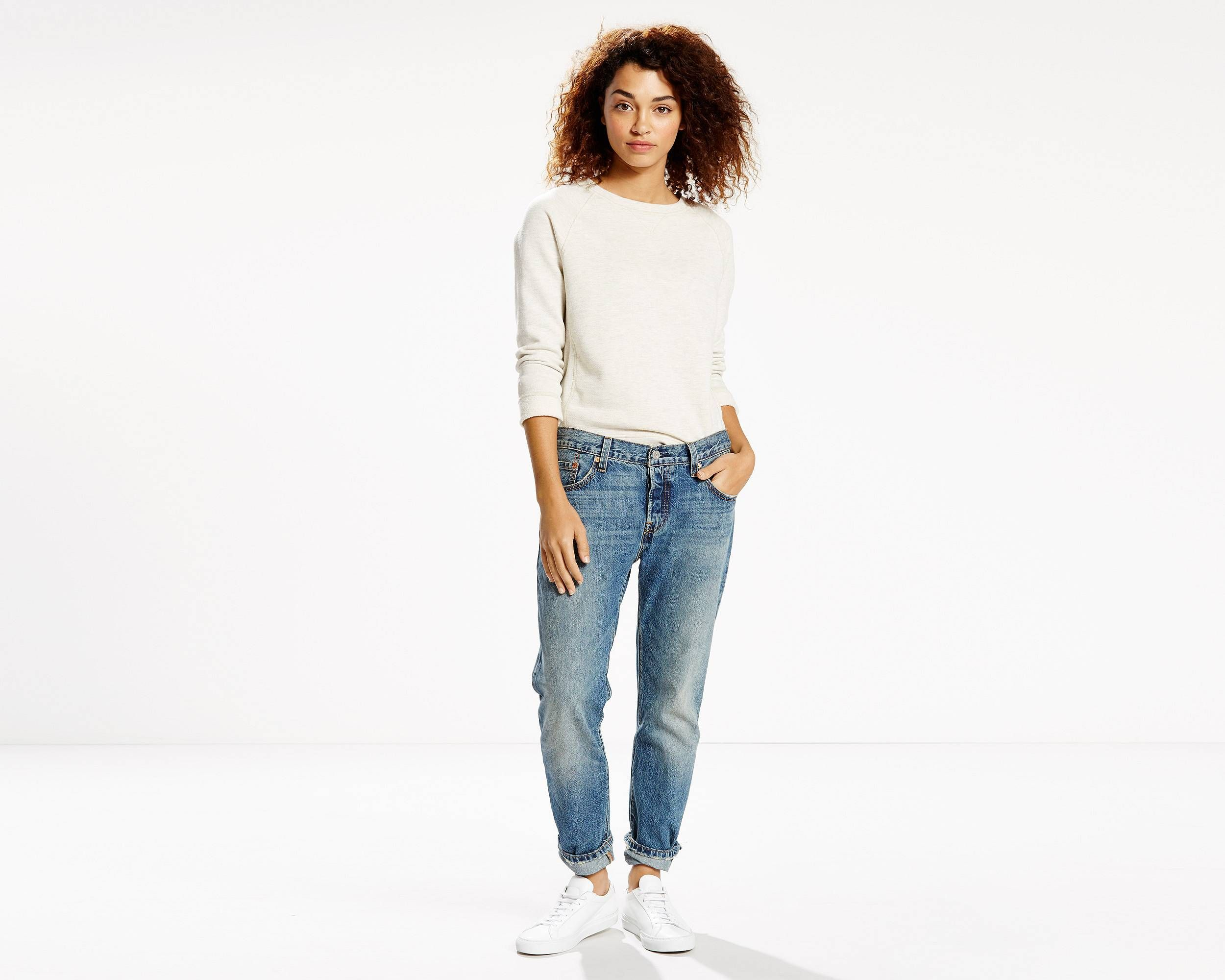 The evolution of an icon. The 501® Original, customized with a perfect tapered leg. With a classic button fly, the 501® CT Jeans feature a straight fit through the hip and thigh with a tapered leg that we wear rolled for style. Size up for a relaxed look or downsized and sexy, depending on your style. This pair comes in premium selvedge denim. Selvedge comes from the term