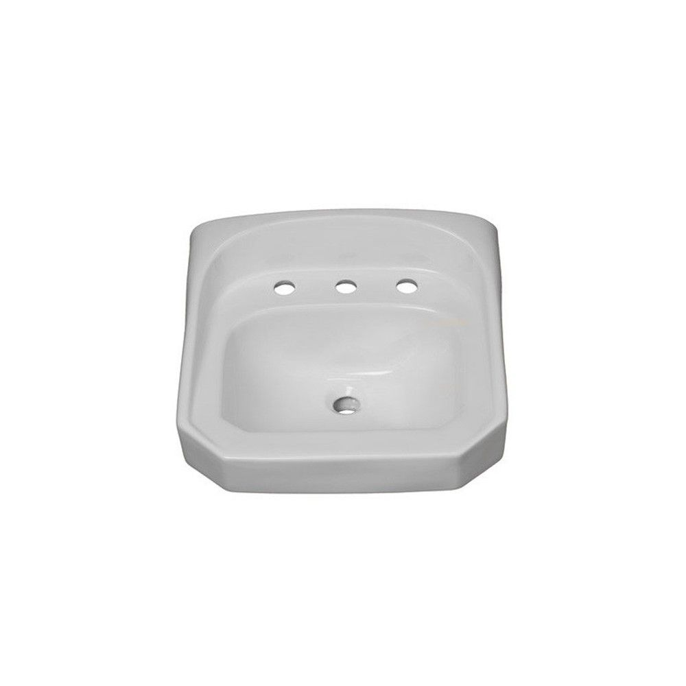 Proflo Pf5514 20 1 4 Wall Mounted Rectangular Bathroom Sink White No Finish Rectangular Sink Bathroom Bathroom Sink Sink
