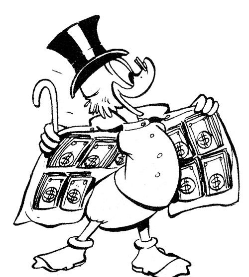 Carl Barks Uncle Scrooge Cartoon Coloring Pages Walt Disney