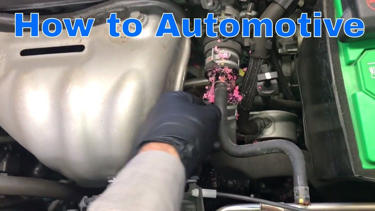 How To Replace The Upper Radiator Hose With Vent Line On A 2006 2012 Toy Radiator Hose Radiators Hose