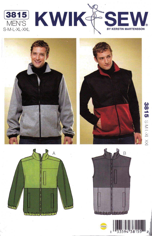 Kwik sew sewing pattern 3815 mens sizes s xxl knit zipper front kwik sew sewing pattern 3815 mens sizes s xxl knit zipper front jacket vest kwik jeuxipadfo Choice Image