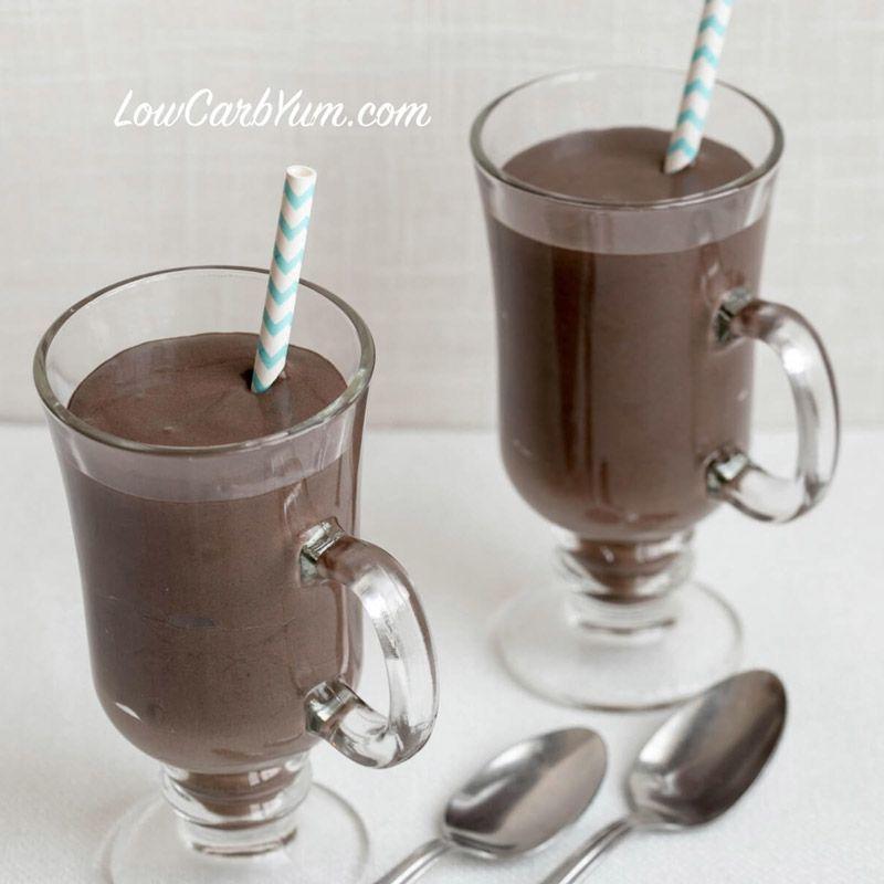 Dark Chocolate Frosty Milkshake via @lowcarbyum #chocolatefrosty Dark Chocolate Frosty Milkshake via @lowcarbyum #chocolatefrosty