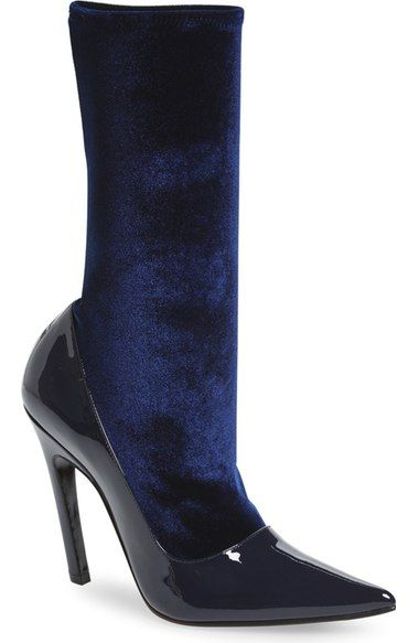 Balenciaga Velour Stretch Bootie (Women) available at #Nordstrom