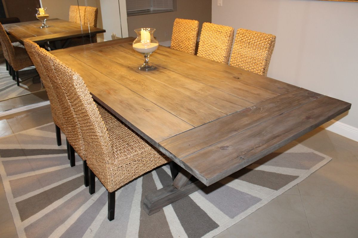Weathered Gray Table. Emailed builder about finish, and