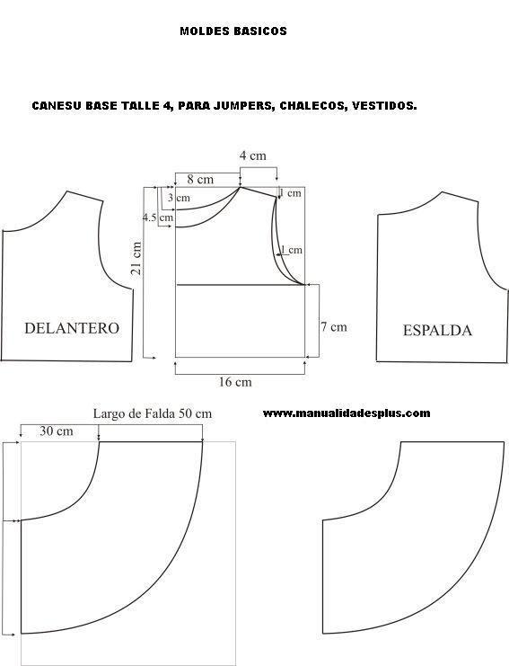 moldes de vestidos de niña gratis para imprimir - Buscar con ...