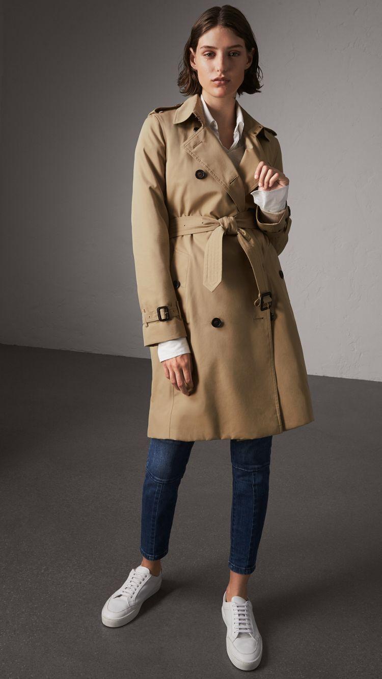 601eaefe2 Trench coat Kensington largo (Miel) - Mujer   Burberry ekkor: 2019 ...