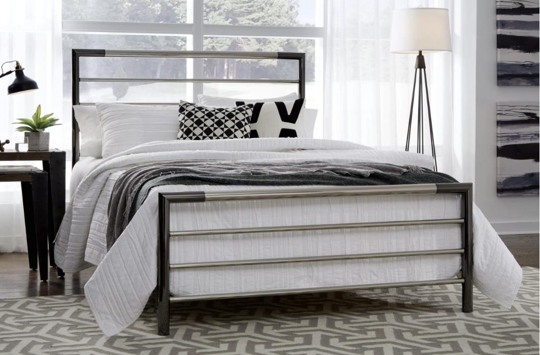 Kenton Bed Bed styling, Open frame headboard
