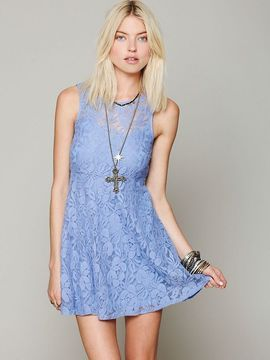bed986ecfc1a Free People Sleeveless Miles of Lace Dress | Women's Fashion and ...