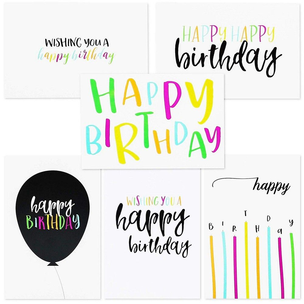 Sustainable Greetings 144 Pack Blank Happy Birthday Cards Bulk Box Set 6 Assorted Designs Envelopes Included 4 X 6 Inches In 2021 Happy Birthday Cards Birthday Cards Note Cards