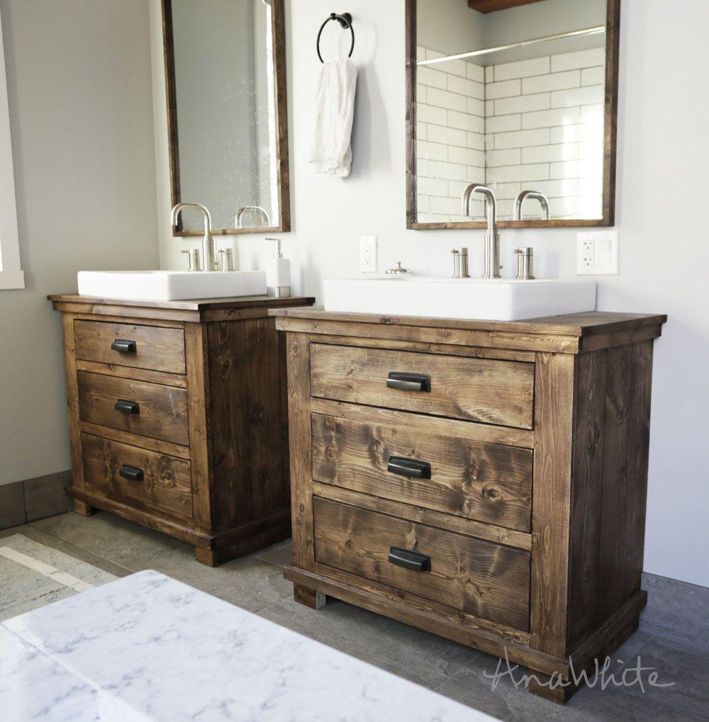 Rustic Bathroom Vanities Ana White Woodworking