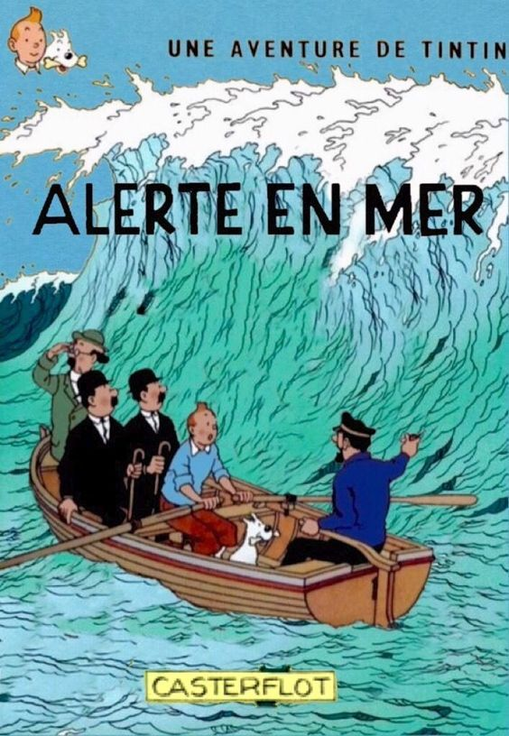 Les Aventures de Tintin - Album Imaginaire - Alerte en Mer