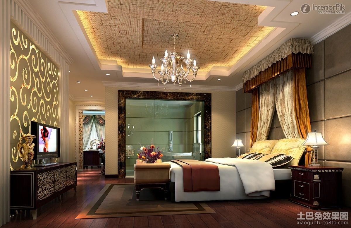 Master Bedroom Ceiling Decoration Design Effect Drawing