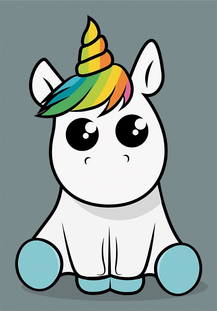 Unicornio Roberto Kawaii Cute Unicorn Unicorn Drawing Unicorn