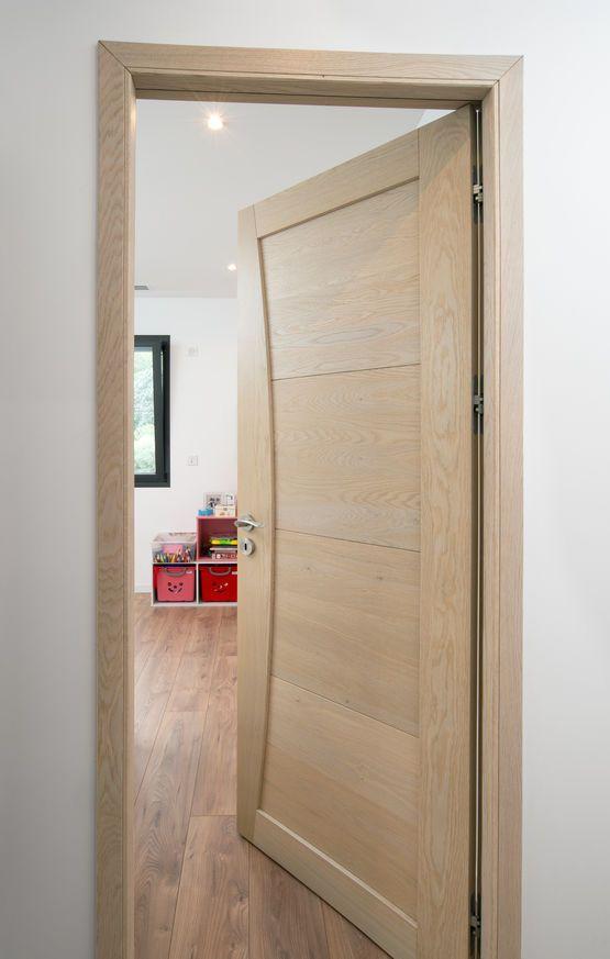 Solid wood interior door in Scandinavian style
