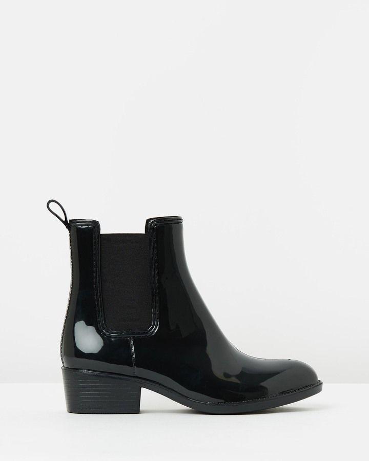 Womens Boots Black Spurr Rainys