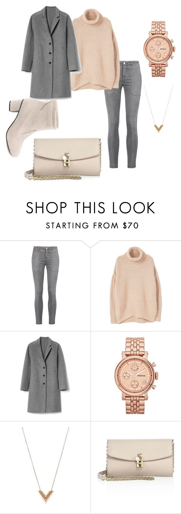 """""""Peaches"""" by dochoa on Polyvore featuring Current/Elliott, MANGO, Gap, FOSSIL, Louis Vuitton and Dolce&Gabbana"""