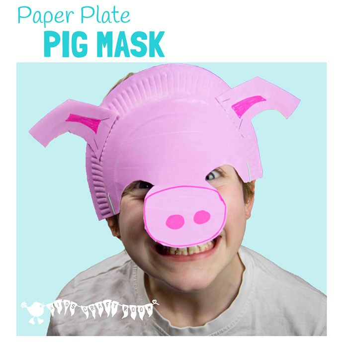 Make A Paper Plate Pig Mask  sc 1 st  Pinterest & Make A Paper Plate Pig Mask | Pig mask Imaginative play and Animal ...