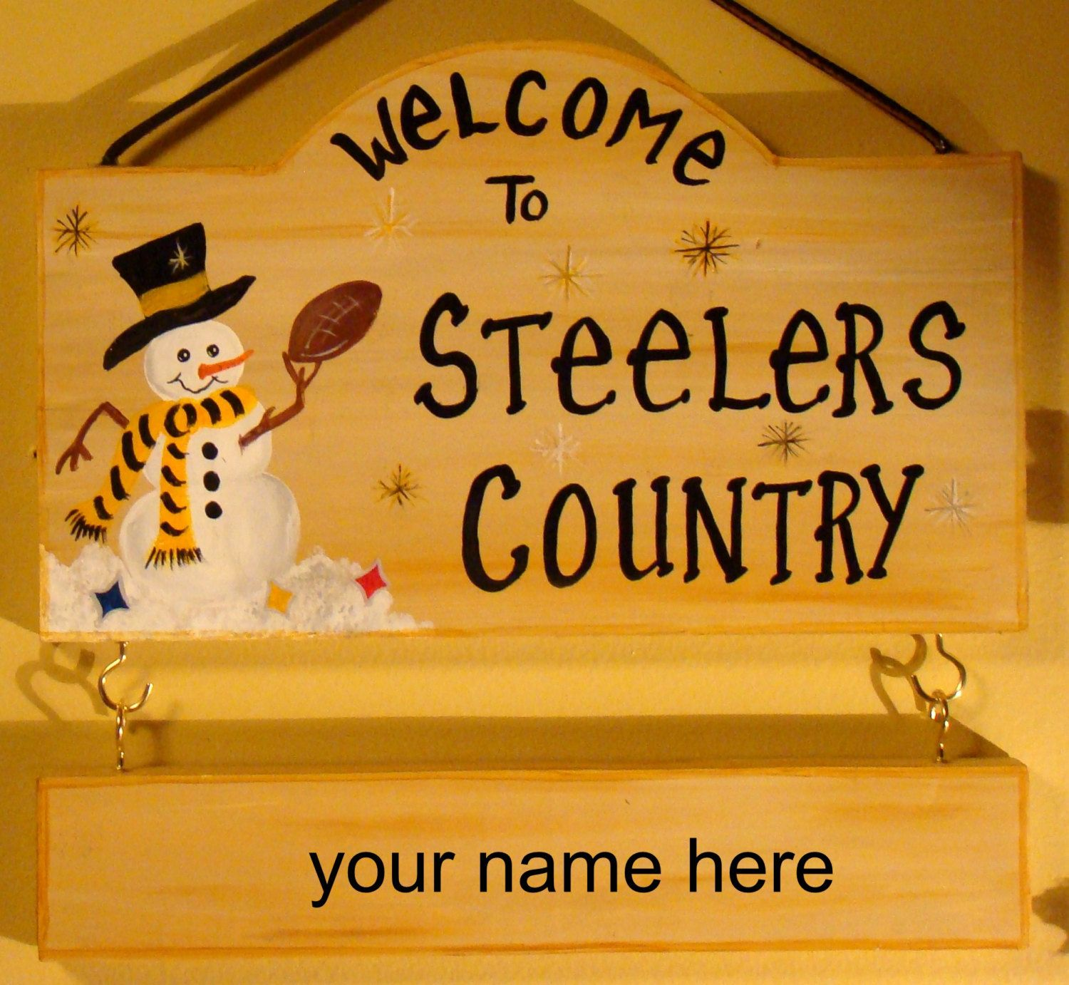 Pittsburgh Steelers Country Football Sign With Name For