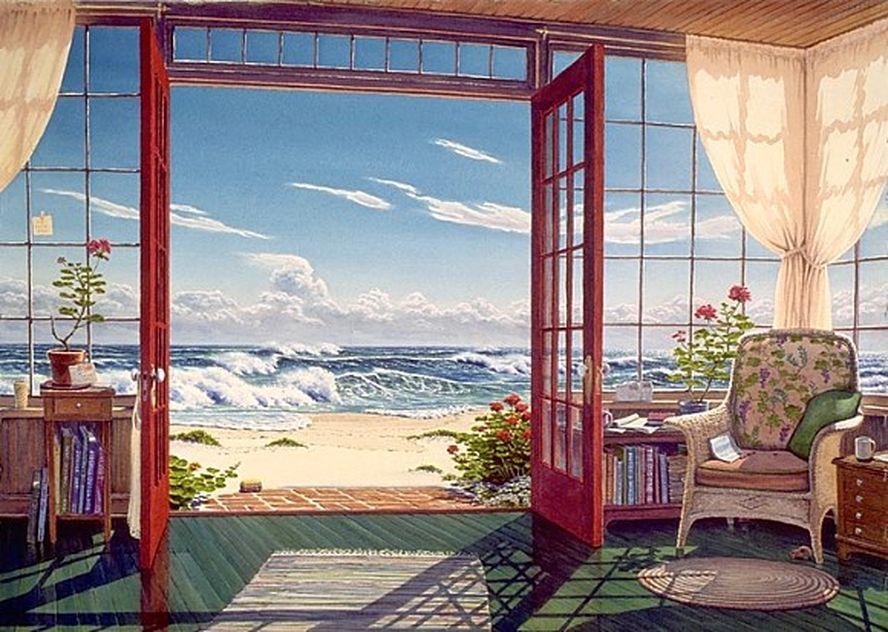 картинки вид из окна или веранды чтобы