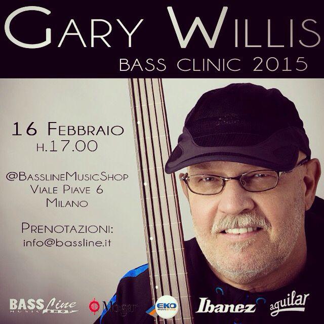 Ancora pochi posti disponibili, prenota inviando nome e cognome a info@bassline.it #garywillis #bassline