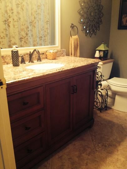 foremost naples 49 in w x 22 in d vanity in warm cinnamon with - Foremost Vanity