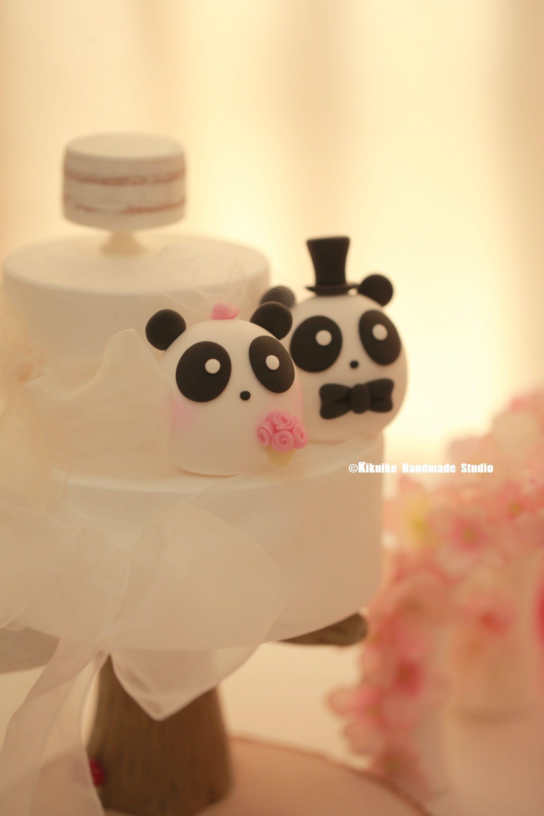 Panda wedding cake topper   MochiEgg cake topper   Pinterest ...