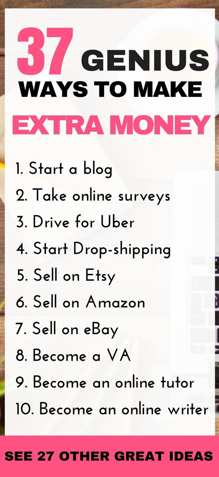 30 Genius Ways To Make Extra Money 1000 Working From