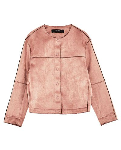 Suede Effect Jacket Outerwear Special Prices Woman Zara United Kingdom Bomber Palto Dzhinsovaya Kurtka