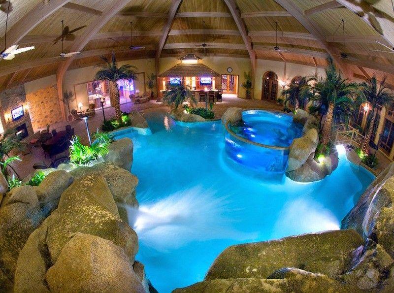 Indoor Pool bauen – 50 traumhafte Schwimmbäder | Innendesign ...