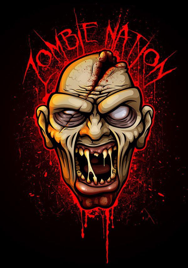 Zombie Nation by Murat Özkan, via Behance