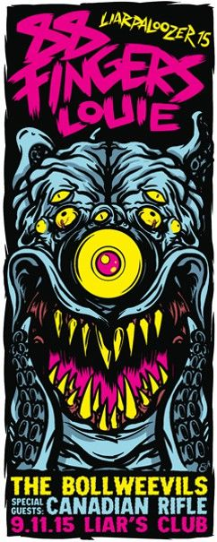 A beastly post-Riot Fest Liar's Club show is the gig poster of the week - http://www.chicagoreader.com/Bleader/archives/2015/09/23/a-beastly-post-riot-fest-liars-club-show-is-the-gig-poster-of-the-week