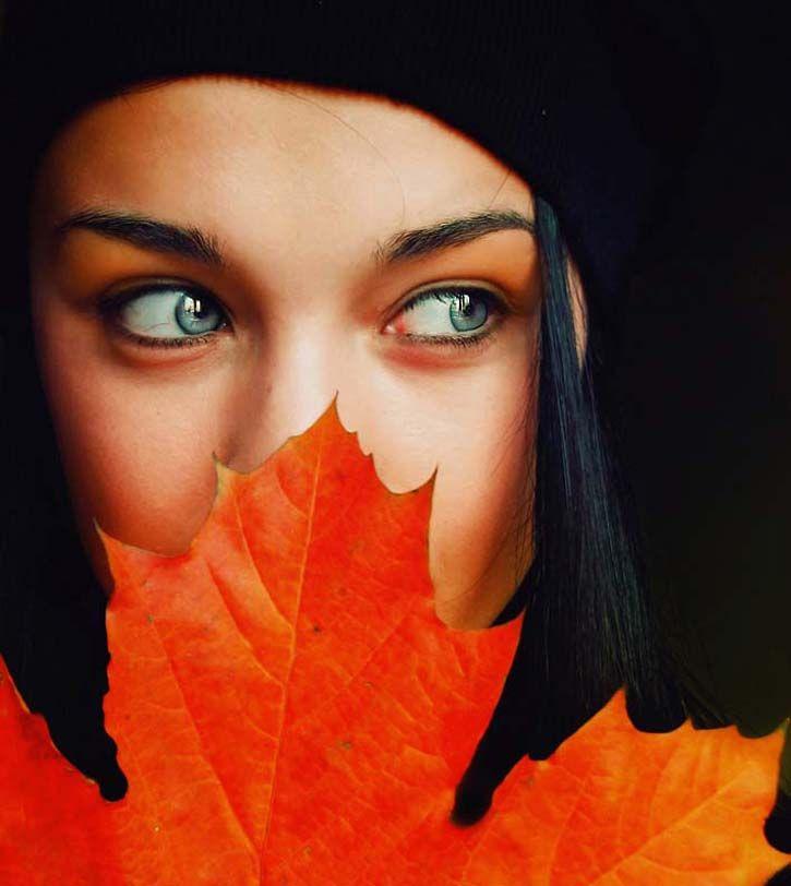 feuille orange