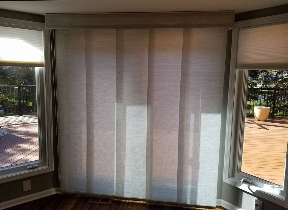 Pin by bellagio window fashions on vertical blind alternatives panel track blinds can go on large sliding glass doors or patio doors something different than a vertical blind for those large windows planetlyrics Gallery