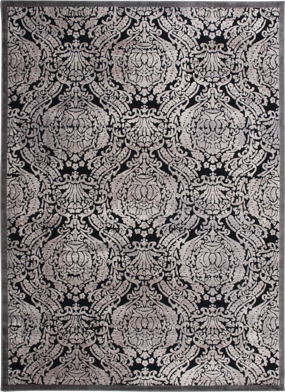 "Nourison Graphic Illusions Collection Gil09 7'9"" X 10'10"" Area Rug, Black"